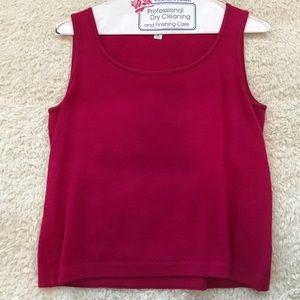 St John Raspberry Pink Knit Tank Top